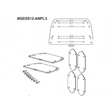 NEXO 16° To 30° GEO S12 Fixes Installation Angle Plates.
