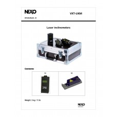 NEXO 2 x Laser Inclinometers, 1 x Meter Unit, 1 x Case  Kit.