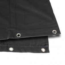 0152 X 33 - Blackout cloth B1 black with burnished Grommets hemmed 3 x 3 m
